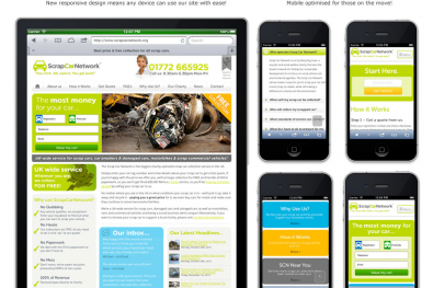 Scrap Car Network Mobile Website