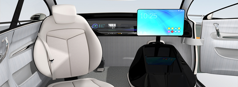 futuristic car interior