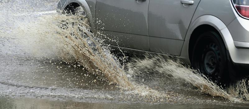 splashing pedestrians