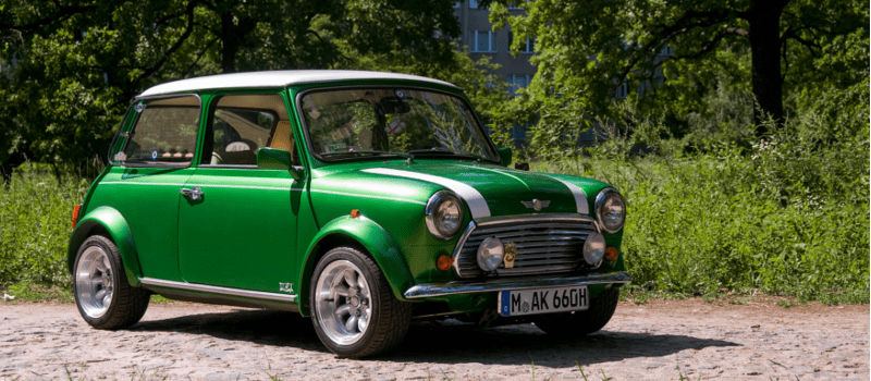 green mini in nature