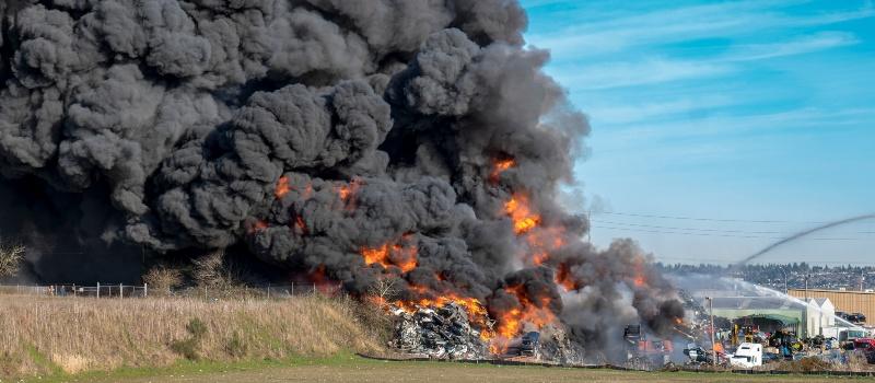 Scrap-yard-fire