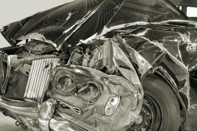 car crash old car